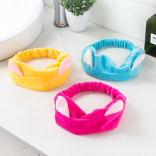Cute Elastic Cat Ears Headbands for Women Girls Makeup Face Washing Headband Hairdo Facial Mask Headwrap Hairband Hair Accessory недорого