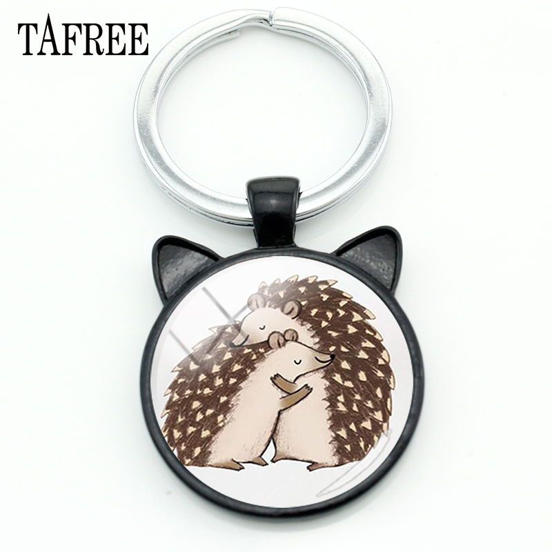 TAFREE Hedgehog In The Fog Keychains Personalized Lovely Art Picture Men Women Keychain Keyrings Gift Car Keyholder Jewelry HF13