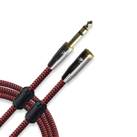 Hifi Stereo 6 3mm 1 4 TRS Jack To 3 5mm Female Headphone Extension Audio Cable