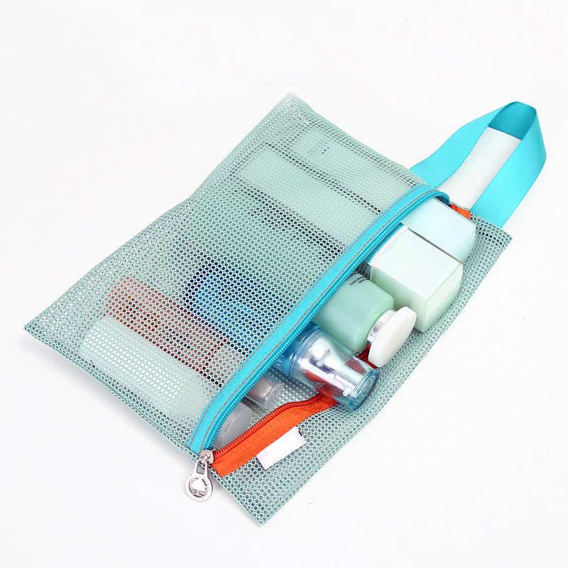 4 sztuk/zestaw zagęścić torba do przechowywania podróżna przenośna siatka torba Case toaletowe ubrania bielizna wiszące torby do przechowywania organizator etui