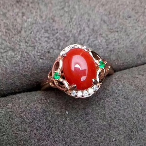 Image 3 - KJJEAXCMY Edlen schmuck 925 Sterling Silber mit rote koralle weibliche ring und silber zertifikat können ausgewählt werden