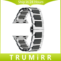 Ceramic Stainless Steel Watchband For 38mm IWatch Apple Watch Sport Edition Wrist Band Bracelet Strap With
