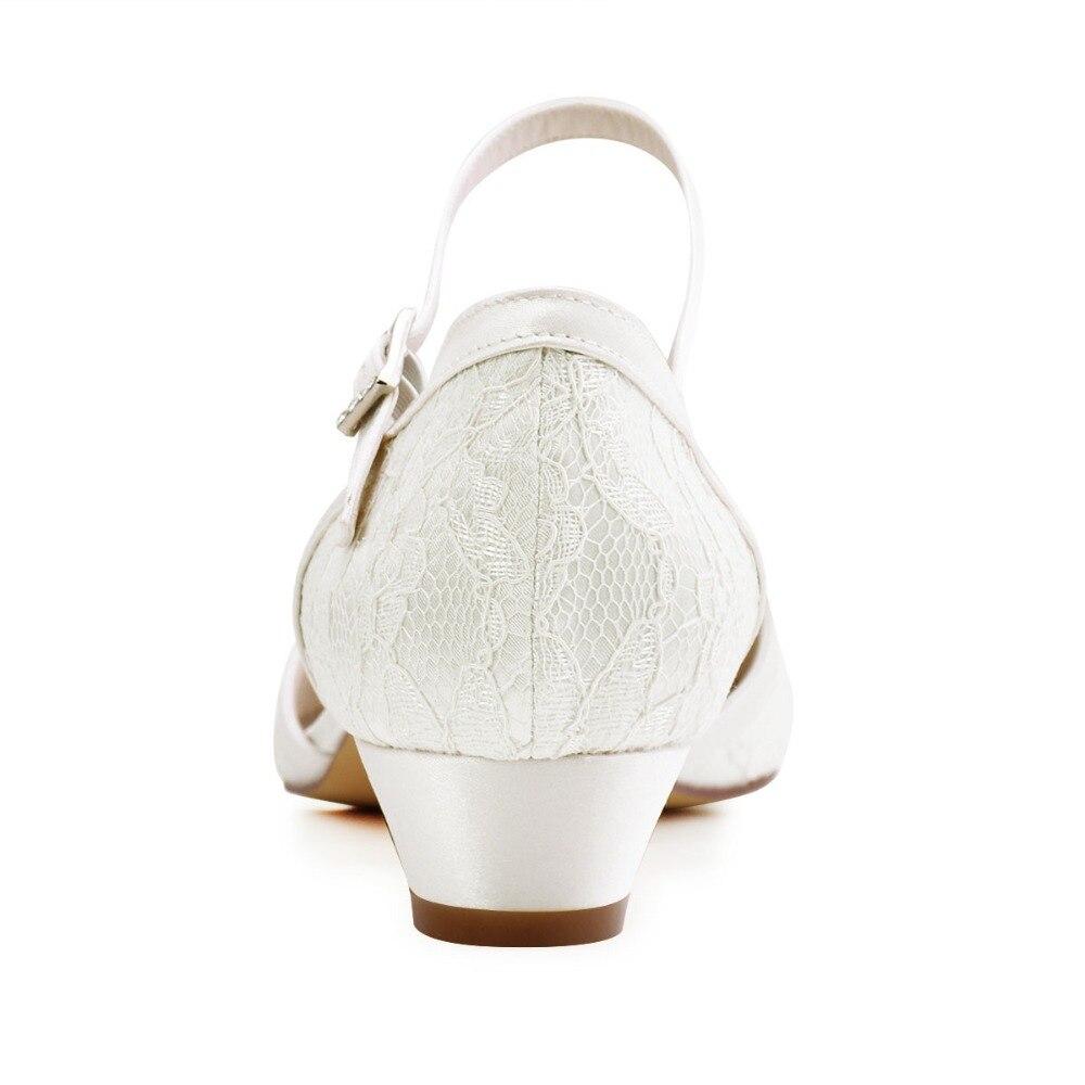 Demoiselles Bas Talons Mariée À Soirée Dentelle Dame D'honneur Ivory Boucle white De Ivoire Blanc Mariage Femmes Chaussures Pompes Hc1620 w0XqgOYw