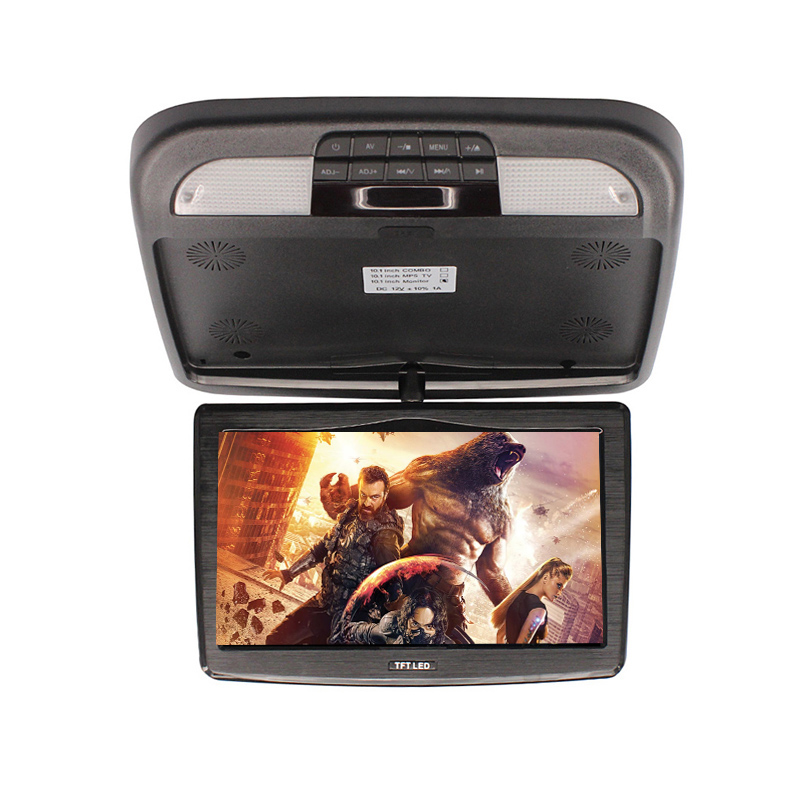 10 Inch Car Monitors 12V 10W Automobile Ceiling Monitor LED Digital Screen Flip Down Video Players Touch Button Accessories