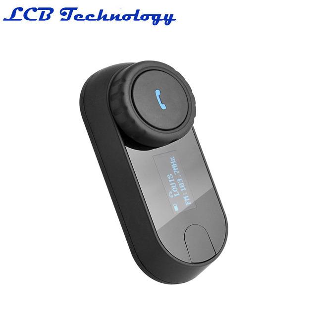 2016 El Más Nuevo Auricular Suave! FM + Pantalla LCD! TCOM-SC HiFi Bluetooth Motocicleta Intercomunicador Del Casco de la Motocicleta Para La Motocicleta