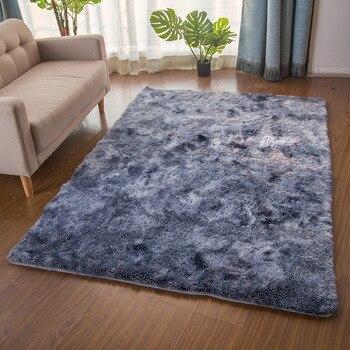 Alfombras de piel grande para sala de estar y dormitorio, alfombras mullidas...