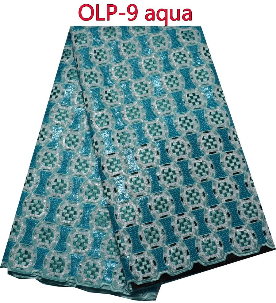 Tela de encaje de organza doble africana, gran venta tela de encaje pesado para el vestido de boda. OLP 9-in encaje from Hogar y Mascotas    1