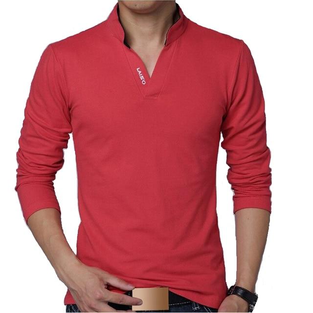 Поло Мужчины Рубашка Мужская С Длинным Рукавом Твердые Рубашки Camisa Поло Masculina повседневная хлопок Плюс размер XXXL 4XL 5XL Новый Топы Тис