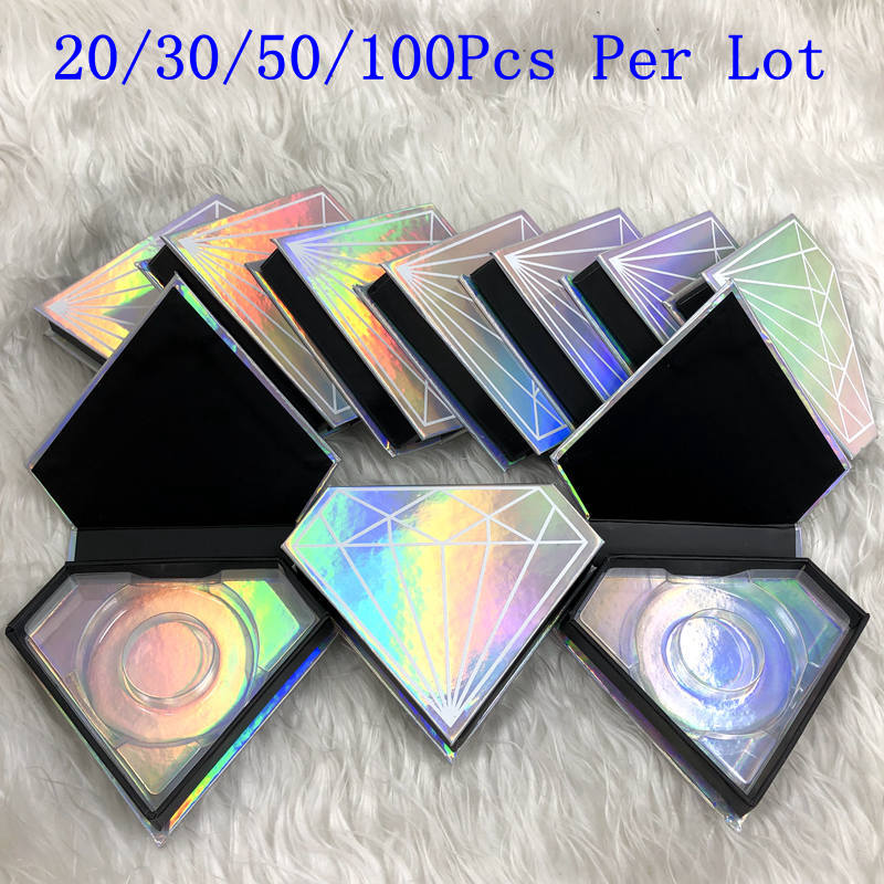 Mikiwi vente en gros faux cils boîte d'emballage logo personnalisé faux 3d vison cils boîtes faux cils bande diamant étui magnétique vide