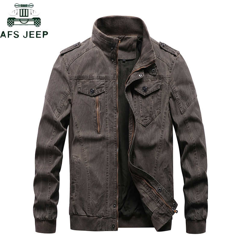 New 2019 Vintage Military Denim Jacket Men Brand Bomber Jackets Male Big Size M-6XL Stand Collar Slim Fit Jaqueta Masculina