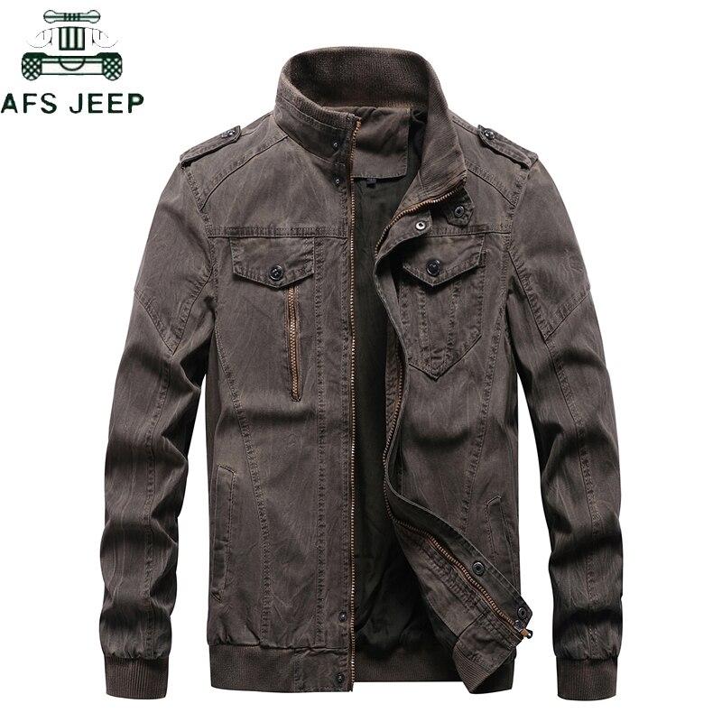 New 2019 Vintage Military Denim Jacket Men Brand Bomber Jackets Male Big Size M-6XL Stand Collar Slim Fit Jaqueta Masculina