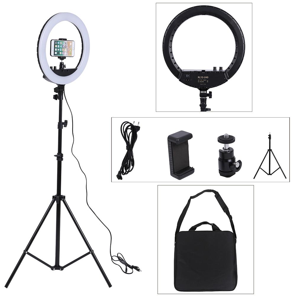 14 Inch Photo Studio lighting LED Ring Light 240PCS Bulbs 3200 5600k Photography Dimmable Ring Lamp