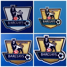 2PCS BARCLAYS Premier League white golden 11/12/13/14/15 champion football Print patches badges,Soccer Hot stamping Patch Badges(China)