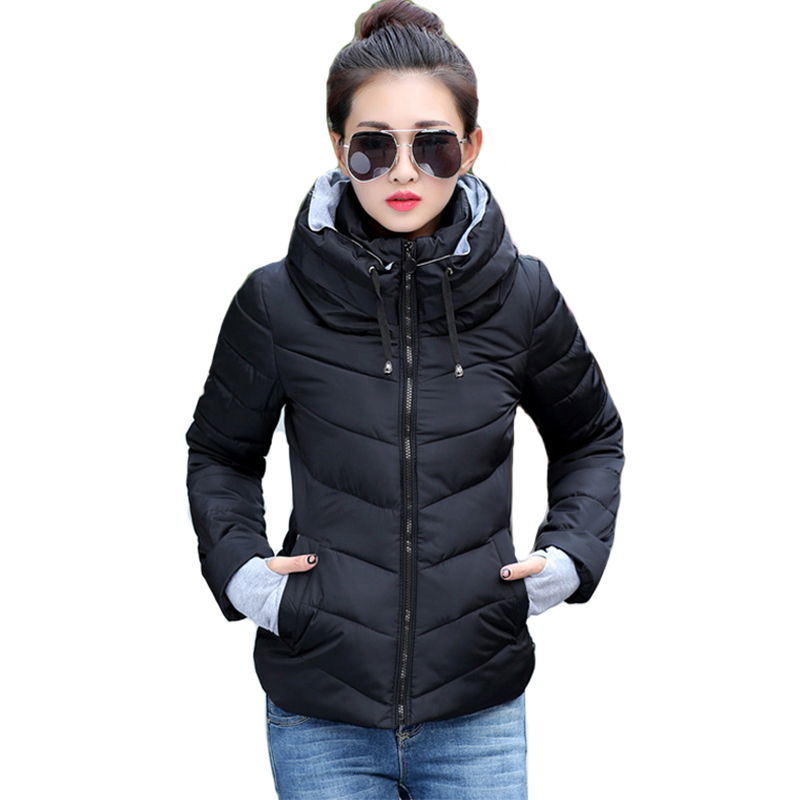 2018 new ladies fashion coat winter jacket women outerwear short wadded jacket female padded parka women's overcoat