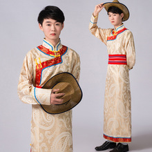 Chinese Folk Dance Costume Male Chinese Traditional Princess Clothing Mongolian Dance Costumes For Men  Robe Clothes 17