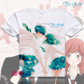 Fashion Anime  T Shirt  Animation.Cartoon Ao Haru Ride Cotton T-Shirt New Anime tshirts Tops Tee