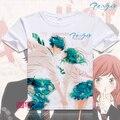 Moda Anime Animación Camiseta. Ao Haru Paseo Camiseta de Algodón Nuevo Anime de Dibujos Animados camisetas Tops Camiseta