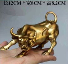 Description Copper Big Wall OX Street brass Fierce Bull Statue-Brass