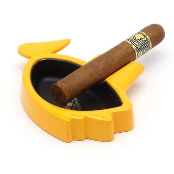 Funny Portable Smoking Ashtray Men Home Gadgets Outdoor Cigarette Ashtrays COHIBA Single Holder Car Ash Tray