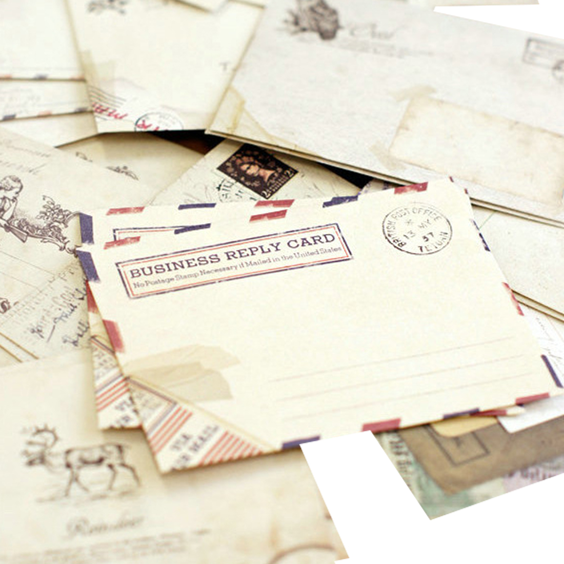 FangNymph Kawaii 12 Pcs/lot 12 Designs  Cute Ancien Paper Envelope Retro Vintage European Style For Card Scrapbooking Gift