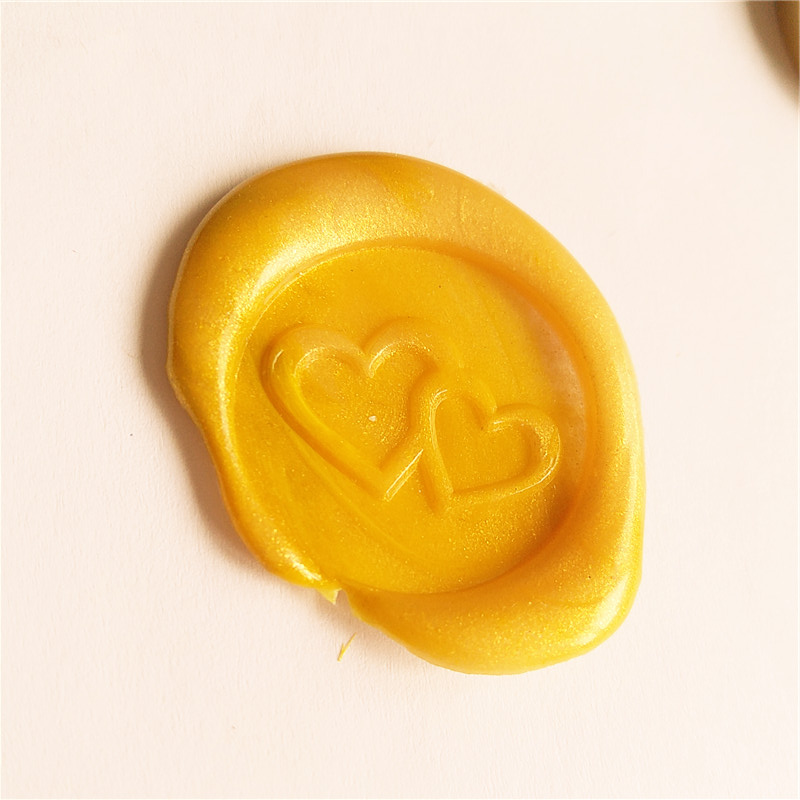 Heart Wax Seal stamp for Love Wedding Shower Anniversary Invitation Envelope Seal,  Intertwined double Heart love love love 50th anniversary mono edition