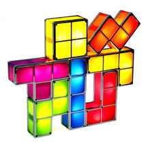 [DBF]DIY Tetris Puzzle Novelty LED Night Light Stackable LED Desk Table Lamp Constructible Block Kids Toy's Light Christmas Gift - DISCOUNT ITEM  39% OFF All Category