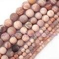"""Frete Grátis 4mm 10mm 12mm Rodada Geada Multicolor Natural Sunstone Gem Stone Beads Para DIY Colar Jóias Pulseira Fazendo 15"""""""