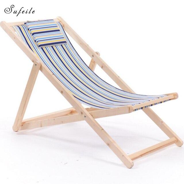 SUFEILE Bewegliche Klappstühle Freien Hölzerne Mond Stuhl Einfache Moderne  Massivholz Nickerchen Freizeit Stuhl Q21D50