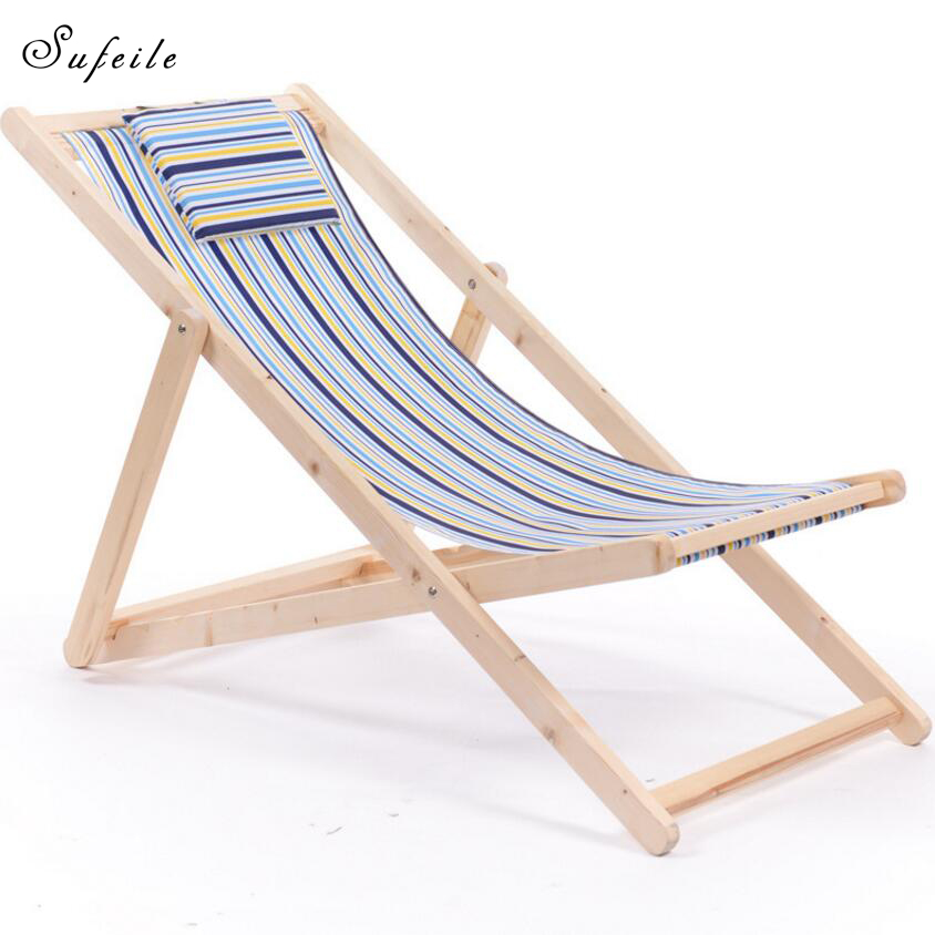 SUFEILE Portable Folding Chairs Outdoor Wooden Moon Chair Simple Modern Solid Wood Nap L ...