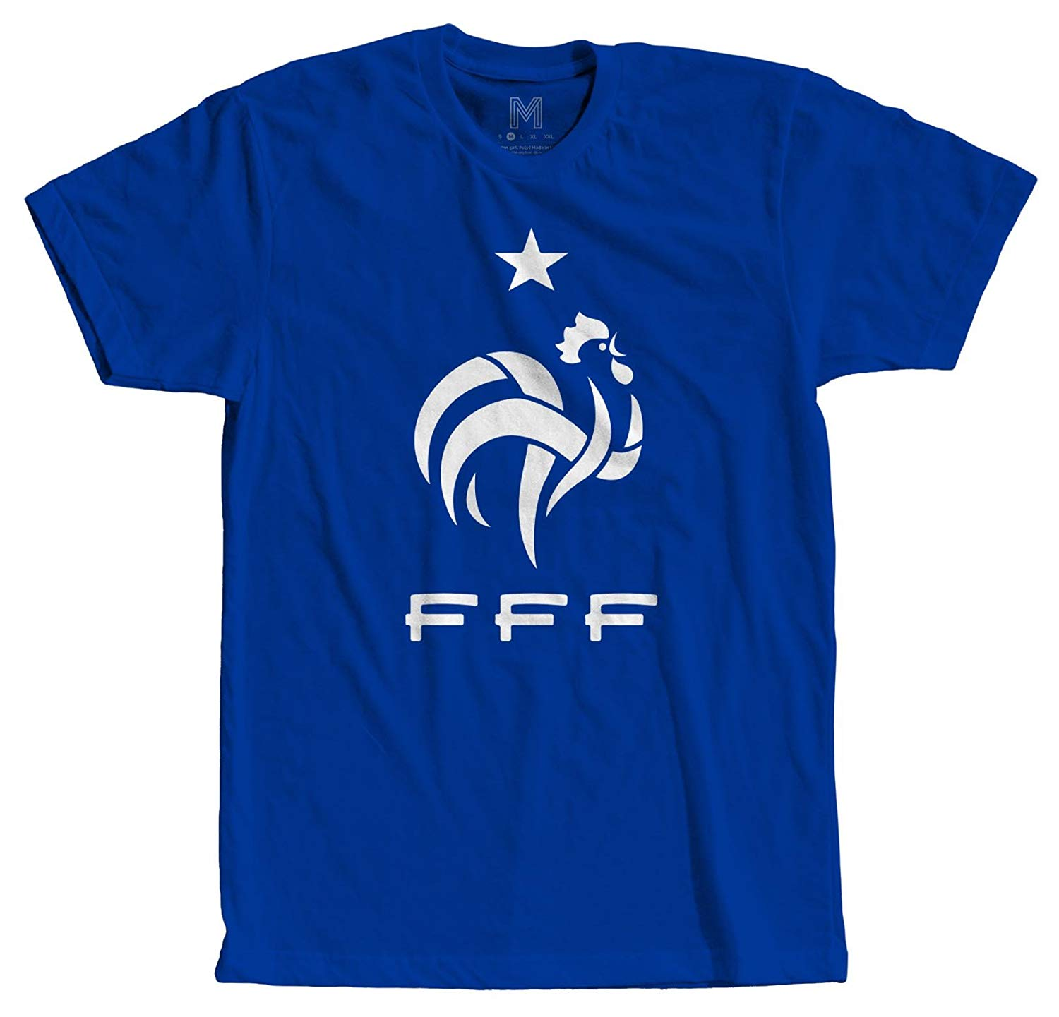 Sac Apparel France Soccer Team Sports Tees Men Graphic Vinyl T Shirt