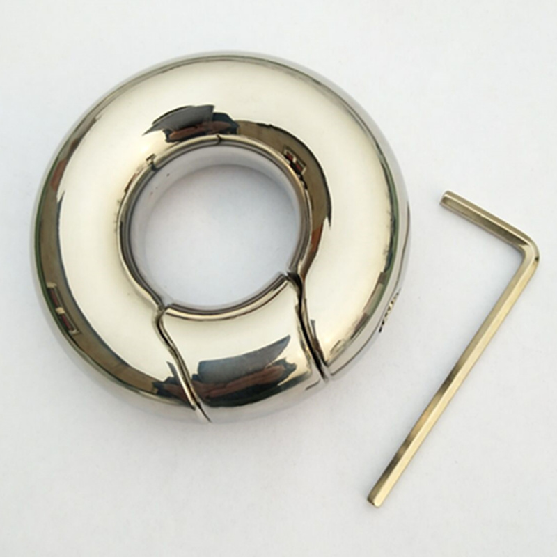 Stainless Steel Scrotum Pendant Penis Cock Ring Restraint Chastity Device Testicle Penis Training 9 Size for Choice B2-80 wearable penis sleeve extender reusable condoms sex shop cockring penis ring cock ring adult sex toys for men for couple