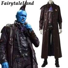 Disfraz de Cosplay de guardianes de la galaxia 2 Yondu Udonta, disfraz de Carnaval y Halloween para adultos y hombres, disfraz de Yondu