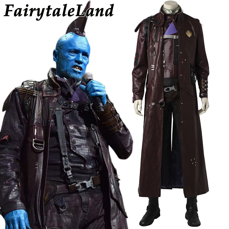 Guardians of the Galaxy 2 Yondu Udonta Cosplay Costume Carnival Halloween costumes adult men Custom made Yondu costume suit