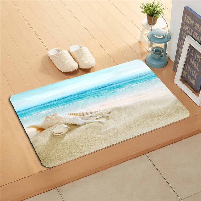 Vu002618 Custom The Beach Sea Shells Doormat Home Decor Door Mat Floor Mat Bath  Mats Foot