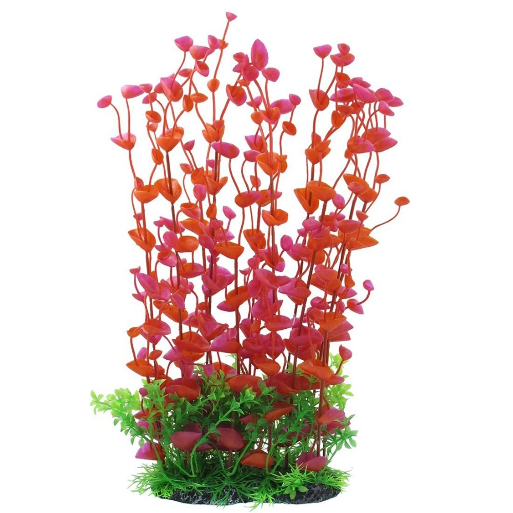Aquarium fish tank plants - 5 9 Aquarium Fish Plants Accessory Acuario Plastic Artificial Plant Decoration Simulated Red Flower Aquarium Fish