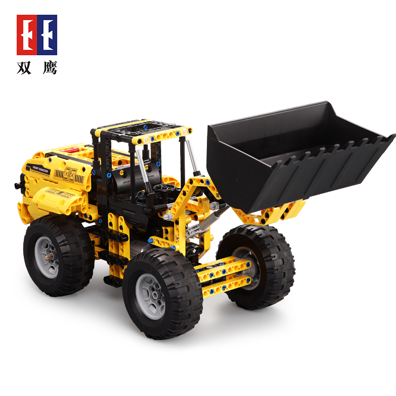 Engineering vehicle mechanical group electric remote control bulldozer excavator toy boy assembly building blocks birthday toys puzzle assembly deformation military electric remote control tank car toy building blocks model 6 years old