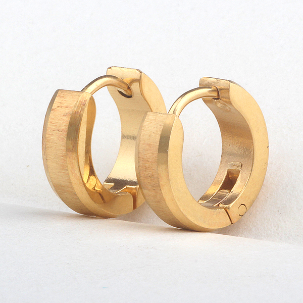 Beautiful New Classic Earring Jewelry Rose Gold Color Titanium Steel Wedding Earrings For Women