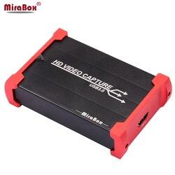 MiraBox USB3.0 urządzenie do przechwytywania gier na PS3 transmisja strumieniowa na żywo transmisja 1080P 60FPS urządzenie do przechwytywania gier