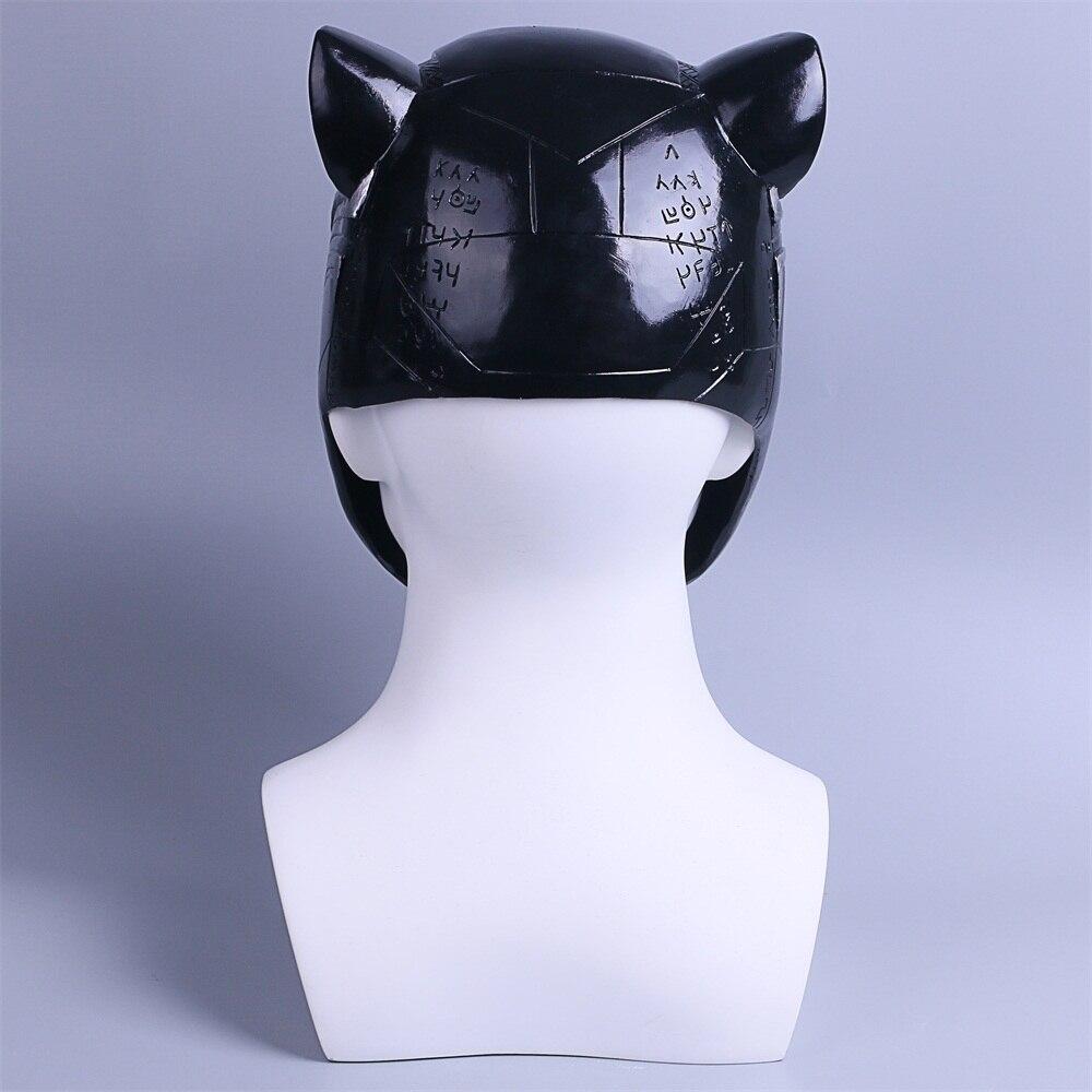 2018 New Black Panther Helmet Cosplay T'Challa Mask Costume Halloween Helmet Handmade PVC prop (7)