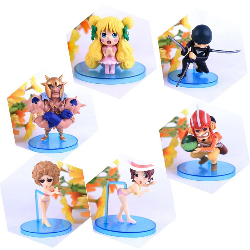 New 6pcs/set anime one piece pica zoro Usopp pvc action figure lilliput model toys kawaii doll juguetes brinquedos hot sale one piece brinquedos meninos onepiece zoro pvc action figure collectible toys for kid boy