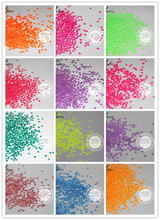 12 Neon and Pearlescent  Colors Ultra Thin Solvent Resistant Heart Shape Glitter for nail art and DIY   -Size : 3MM