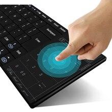 Ultra-delgado Teclado Bluetooth 3.0 wireless keyboard Touchpad para Windows Mac/IOS Android Teléfono Inteligente de Pantalla Táctil Del Teclado