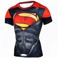 Marca clothing 2017 camisa compressão 3d capitão américa punisher superhero superman t shirt t-shirt de musculação crossfit
