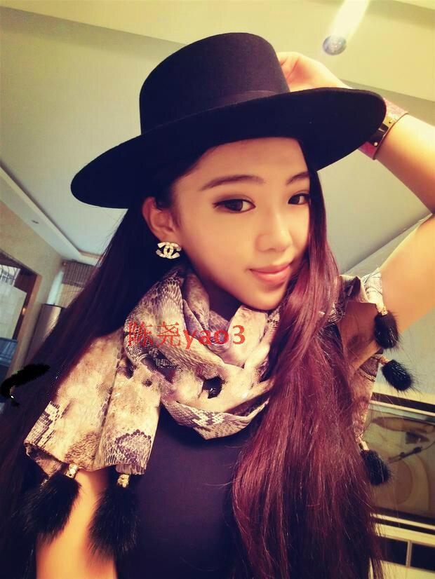 Flat Top Black Wool Boater Hats for women 100% wool felt fedora flat brim  fashion elegant cartola preta-in Fedoras from Apparel Accessories on ... 17131d62654