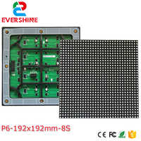 1/8 scan smd outdoor P6 led module full color 32x32pixes size192x192mm module