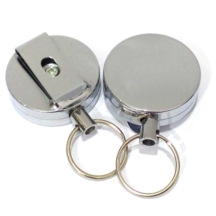 1PC Metal Card Badge Holder Retractable Key Chain School Stationery Office Supplies