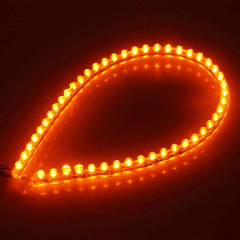 48 LED light strip Car Auto Motorcycle Flexible Grill Light Lamp Bulb DC 12V New