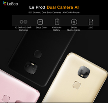 Original LeTV LeEco Le Pro 3 X651 4G 32G 5.5 inch Android 6.0 Helio X23 MT6797D Deca Core Mobile Phone
