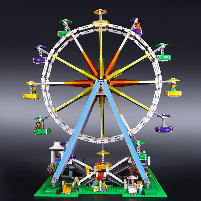 2478Pcs lepin 15012 City Creator Expert Ferris Wheel Model Building Kits Blocks Bricks Toys Compatible 10247 2478pcs lepin 15012 city expert ferris wheel model building kits assembling block bricks compatible with 10247 educational toys