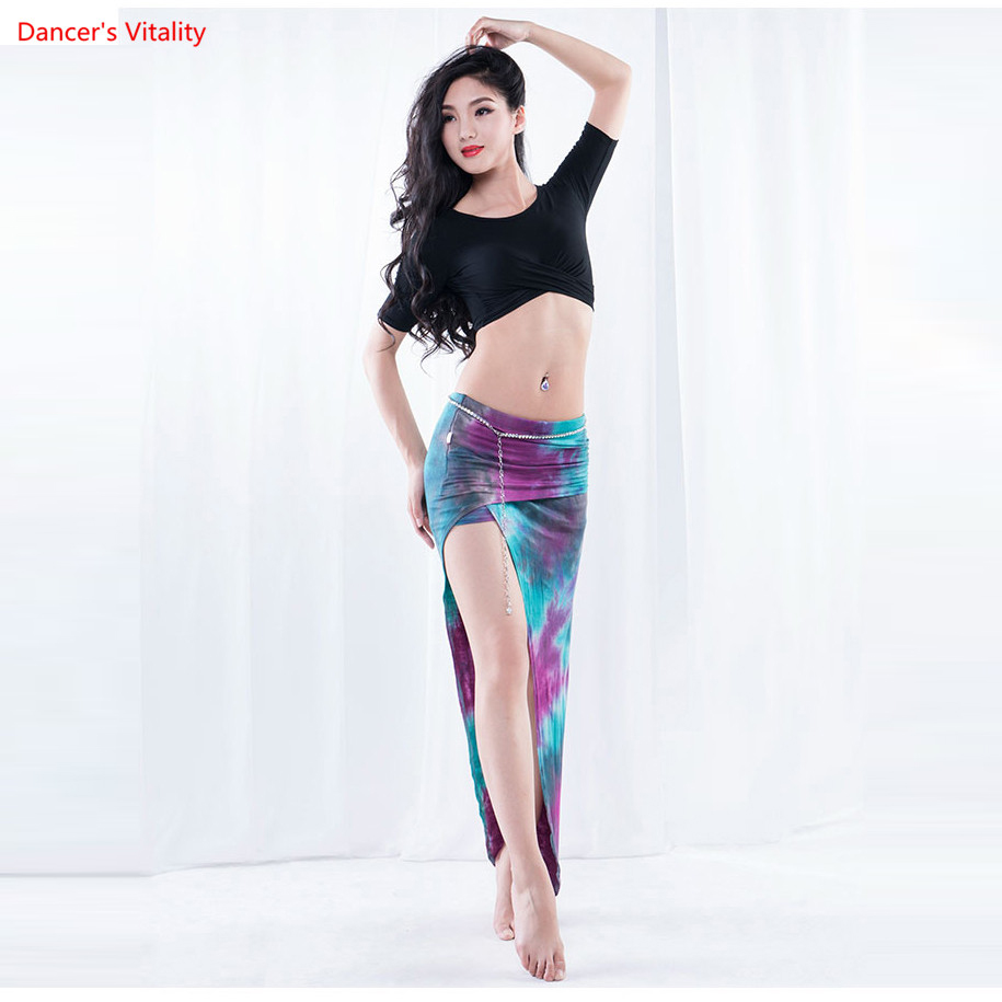 New Female Belly Clothing For Belly Dancing Sexy Circular Collar Of The Top Or Long Skirt Dancer Practice
